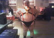 Me dressed as LEATHER SANTA for Big Mens Christmas Party at Gay Center in NYC, 12/05