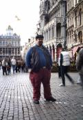 Me, in cobblestone sqaure of Brussels, Belgium