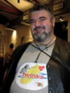 Me at the Dugout in 2004 wearing one of my favorite Tshirts.. Bear Loves Twinks!