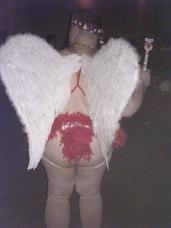 My CUPID Wings... Me as Cupid at a Chub Party for Valentine's Day 2006